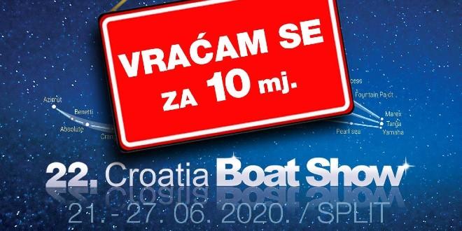 Odgađa se 22. Croatia Boat Show