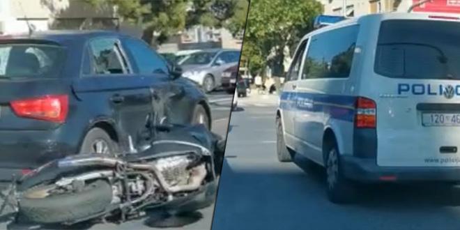 PROMETNA U SPLITU Sudar auta i motocikla na križanju Velebitske i Dubrovačke