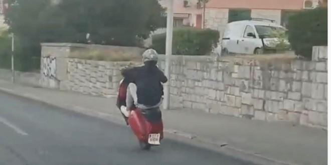 PROMETNI BISER Kada precijeniš svoje akrobatske sposobnosti i poljubiš asfalt