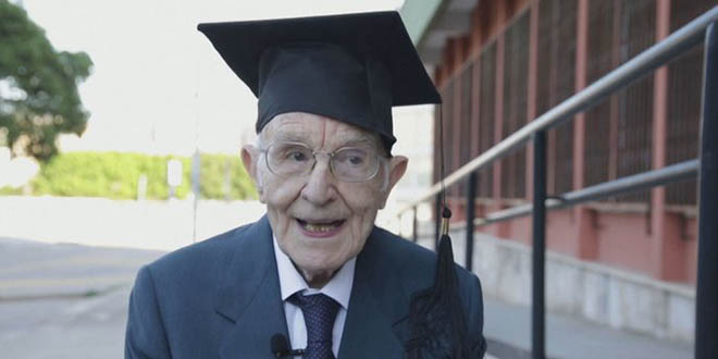 Giuseppe najstariji student na svijetu