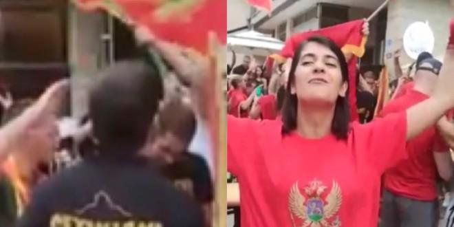 VIDEO: U Cetinju održan prosvjed uz taktove 'Bojne Čavoglave' i 'Sude mi'