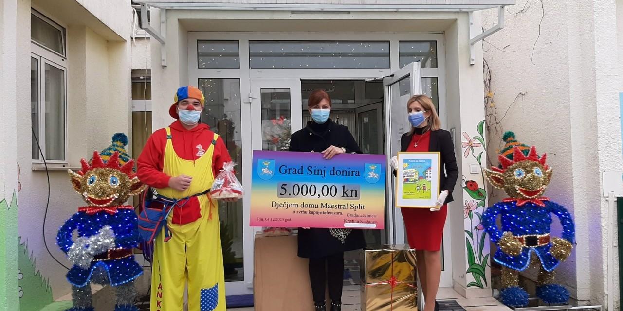 Sinjska gradonačelnica Domu Maestral uručila vrijednu donaciju