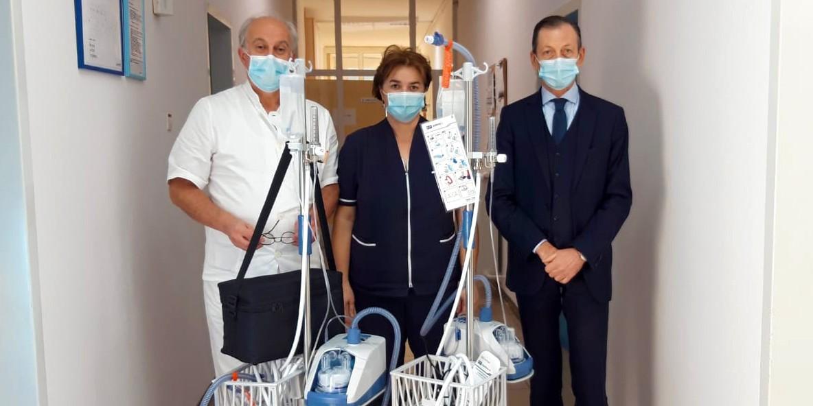 LJUBAV NAS SPAJA Splitski KBC od Turističke zajednice grada Splita primio pet doniranih uređaja za liječenje teških oblika COVIDa-19