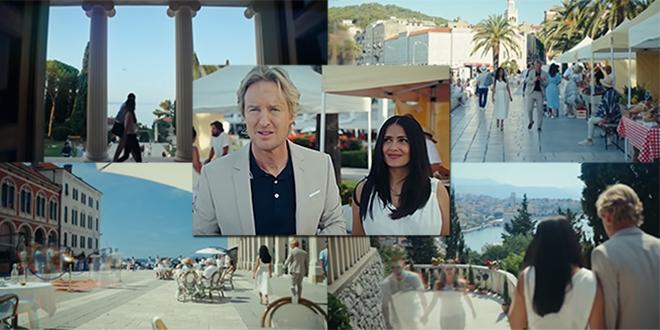 NEVJEROJATNA REKLAMA ZA SPLIT Objavljen je trailer filma sa Salmom Hayek i Owenom Wilsonom, pogledajte Vidilicu, Rivu, Galeriju Meštrović...