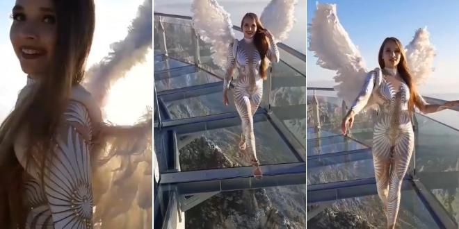 VIDEO KOJI ODUZIMA DAH Ruska ljepotica šetala se po Biokovu u štiklama