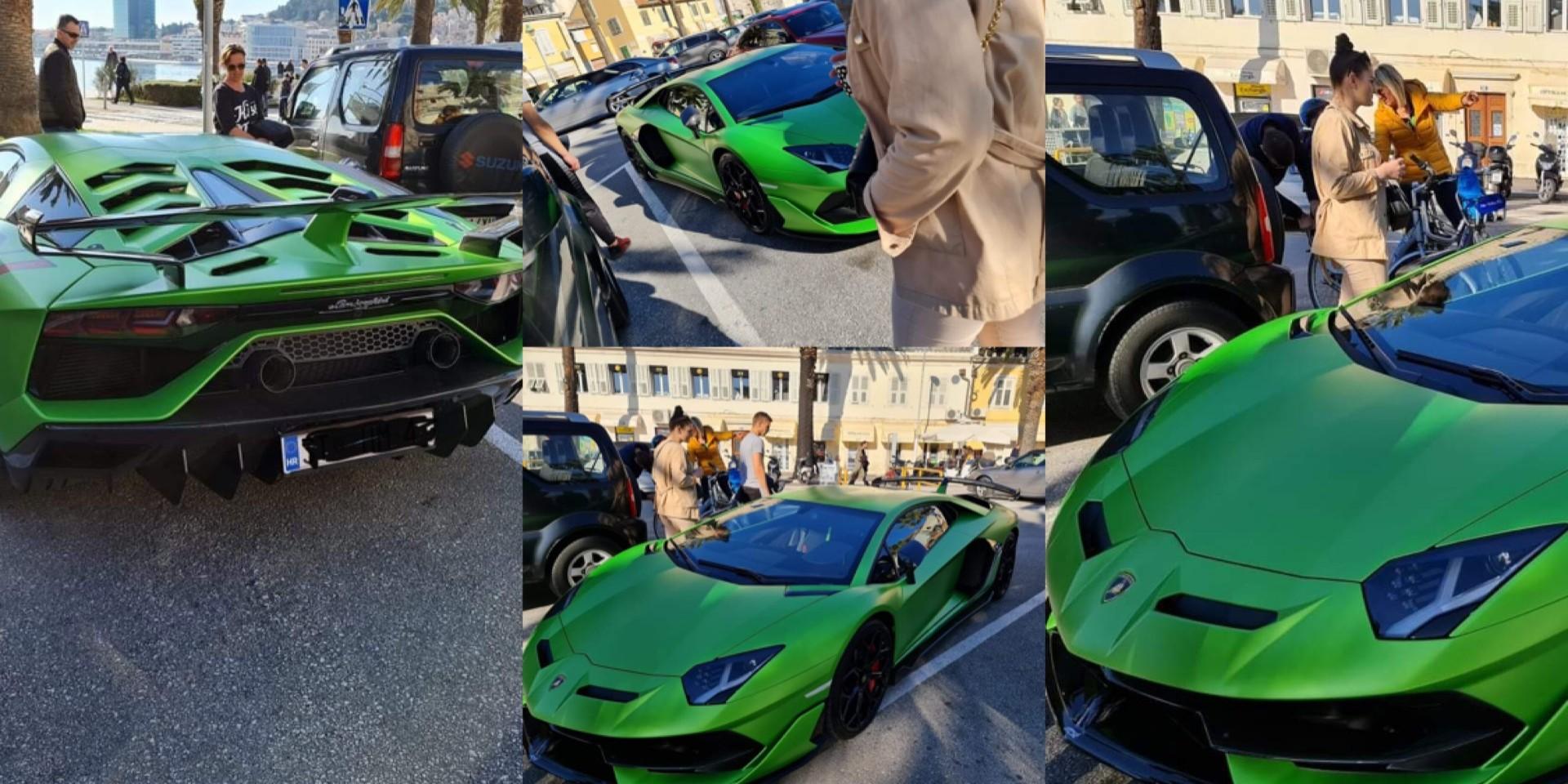 SPLIĆANI 'PARILI' OČI Kraj Turističke palače parkiran superluksuzni Lamborghini