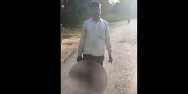 VIDEO: INDIJA Otac kći zaključao u sobu i odsjekao joj glavu, a onda je kroz mjesto u ruci odnio u policiju