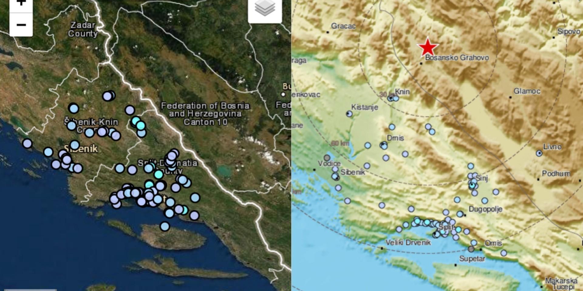 POTRES Podrhtavanje tla osjetilo se u cijeloj Dalmaciji, epicentar je bio u BiH