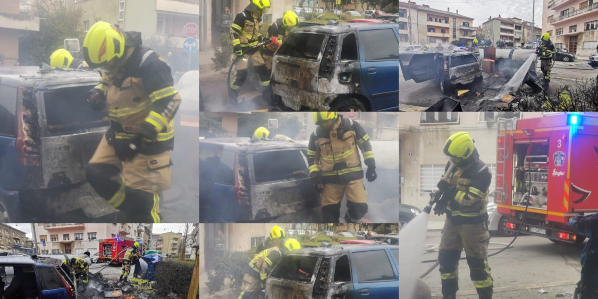 FOTO/VIDEO Golemi požar buknuo u Spinutu, čula se i eksplozija, izgorio Punto