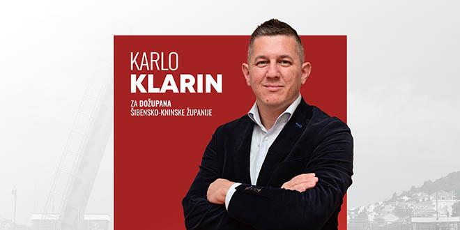 Karlo Klarin kandidat za šibensko-kninskog dožupana