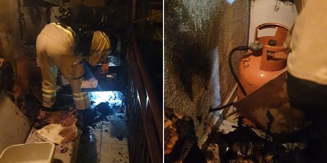 POŽAR NA VISOKOJ Planulo na balkonu stana, prijetila je opasnost od eksplozije plinske boce