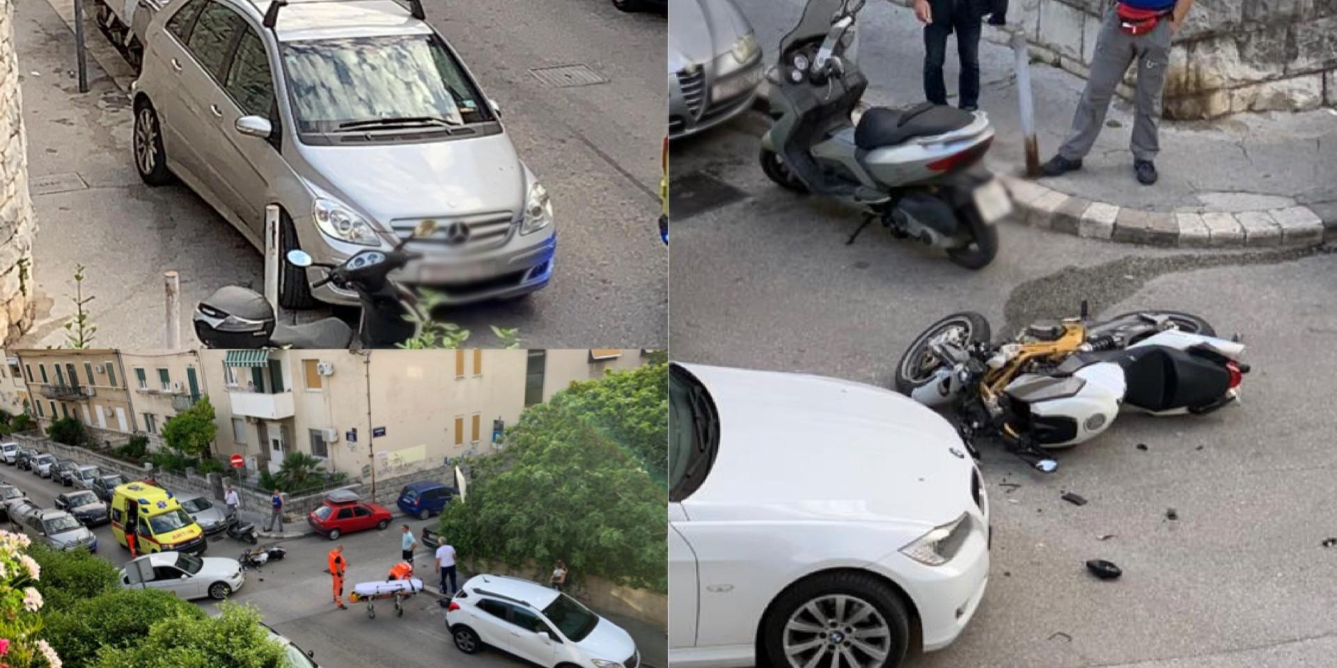 UŽAS U DRŽIĆEVOJ Automobil udario motociklistu, odvezen je u bolnicu