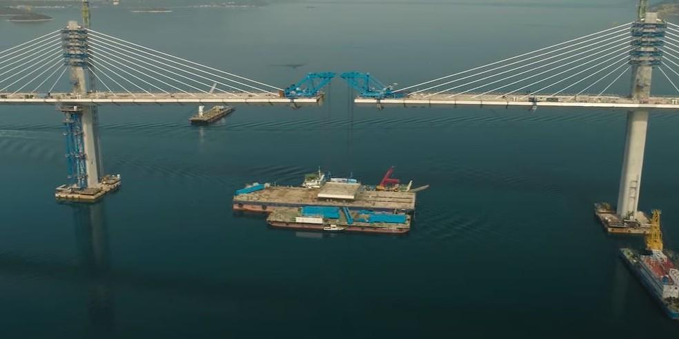 IMPRESIVAN VIDEO Zadnje pripreme za spajanje posljednjeg segmetna Pelješkog mosta