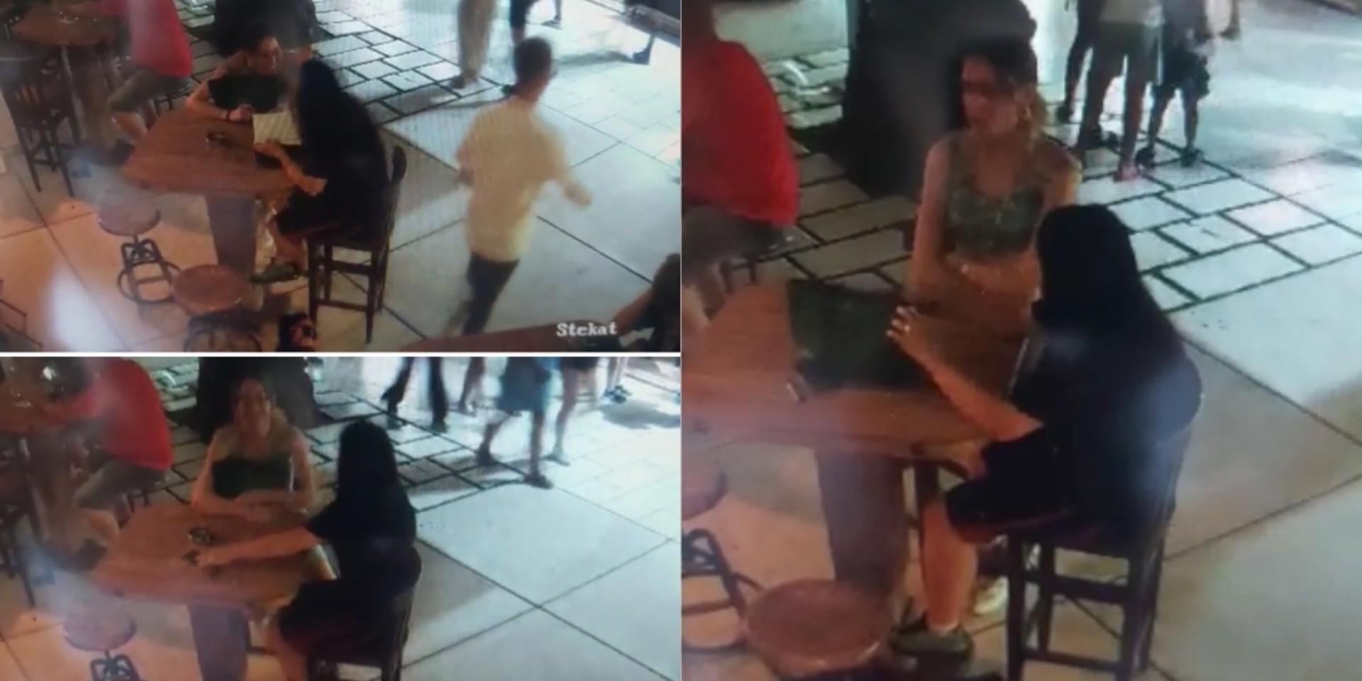 VIDEO BEZOBRAZLUKA Sjele za stol na Rivi, pokupile tuđi novac i nestale