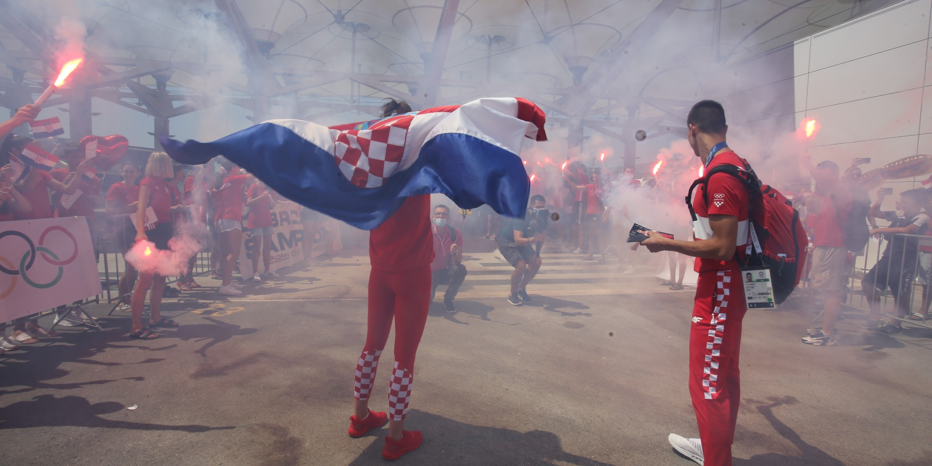 FOTO/VIDEO Špalir za olimpijce