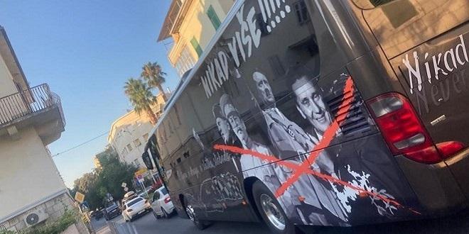 VOŽNJA CENTROM GRADA Splićane šokirao autobus, na njemu Mussolini, Staljin, Hitler, Tito
