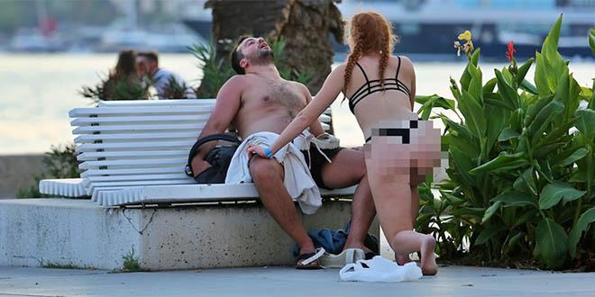 PROŠLI ISPOD RADARA Komunalni redari nisu vidjeli par koji se golišav opustio nasred splitske Rive