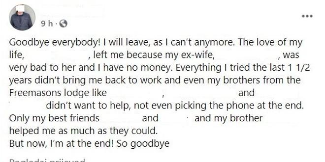 JEZIVO Otac ubojica prije nego je golim rukama zadavio troje vlastite djece, ostavio poruku na Facebooku