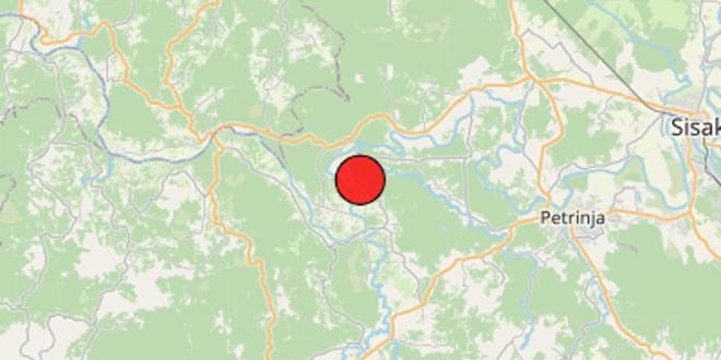 BANIJA Slab potres kraj Gline