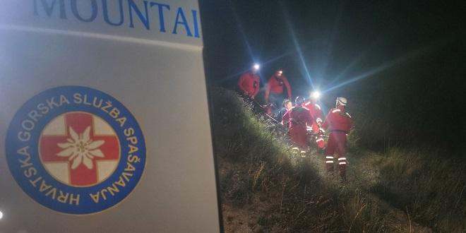 Osoba ozlijeđena u Brelima, interveniralo 7 spašavatelja