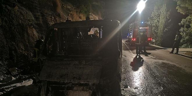UZNEMIRUJUĆI PRIZORI Zapalilo se vozilo Hitne pomoći!